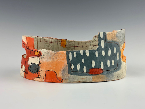Ceramics piece by Rebecca Zweibelz is one of the pieces in Finding Our Authentic Selves.