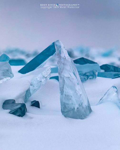 Lake Superior ice shards by Heidi Pinkerton.