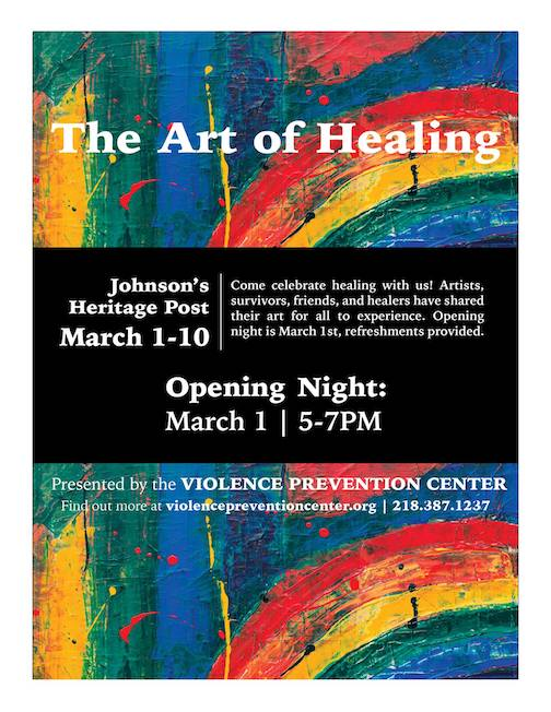 The Art of Healing opens at the Johnson Heritage Post on Friday night with a reception from 5-7 p.m.
