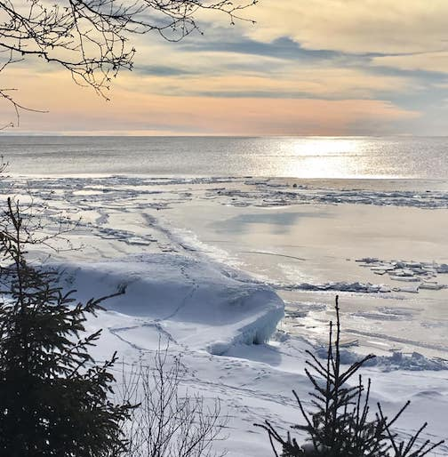 Lake Superior Today by Roxann Berglund.
