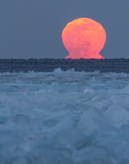 Molten Snow Moon by Thomas Spence.