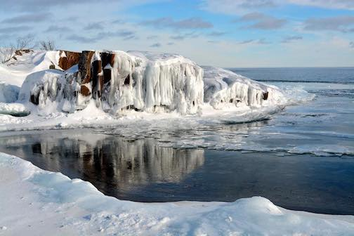 Ice on Artist's Point by Tim Young.