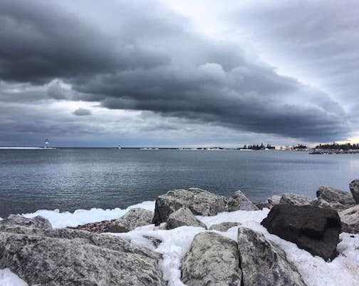 Grand Marais Harbor by Sierra Parsons.