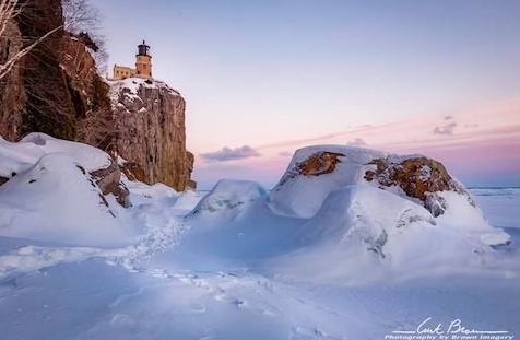 Split Rock Lighthouse only two weeks ago by Curt Brown.