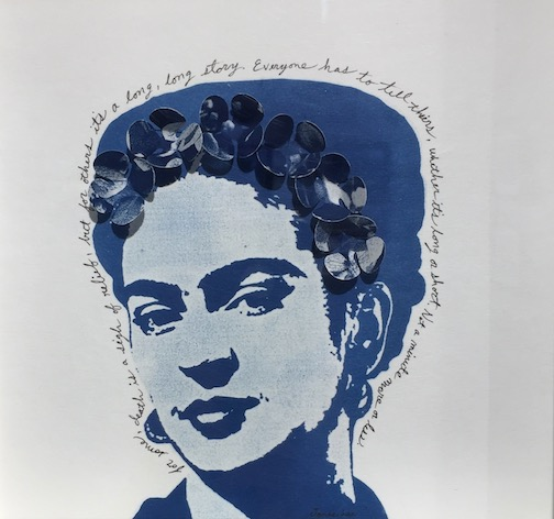 """Blue Frida"" by Janae Lee is also in the exhibit at the Johnson Heritage Post."