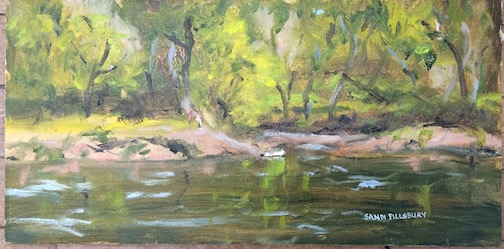 """Spring on the St. Croix River"" by Sandi Pillsbury is one of the paintings on exhibit at the Cedar Coffee Co. in Two Harbors April 1."