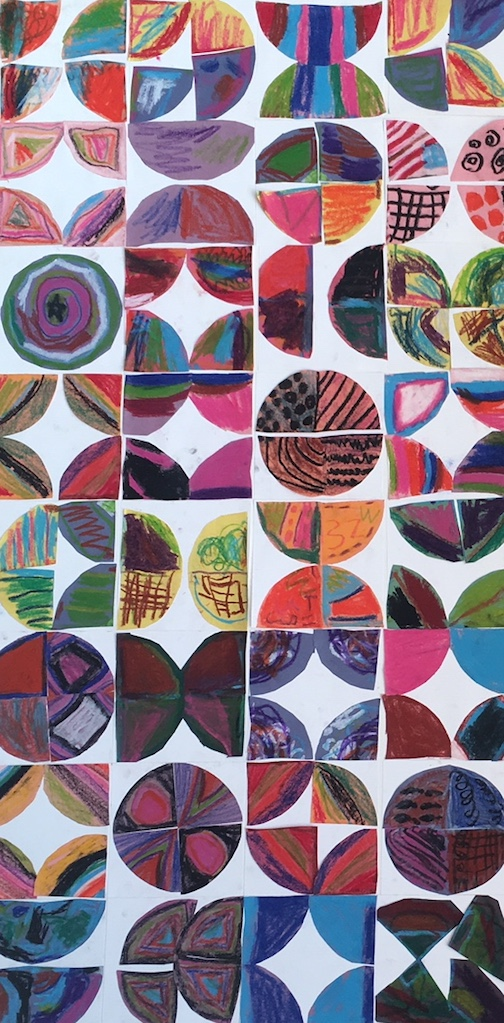 """Quilting"" by a 1st grade student is one of the pieces at Tettegouche State Park this month."