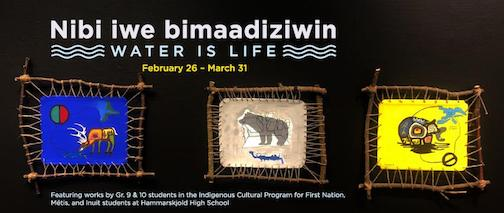 A student exhibit focusing on water is currently at the Thunder Bay Art Gallery.