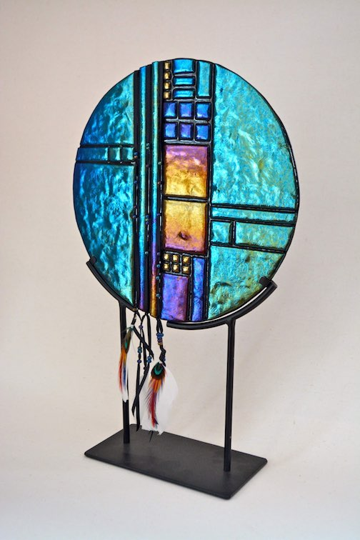Glass piece by Mary Bebie
