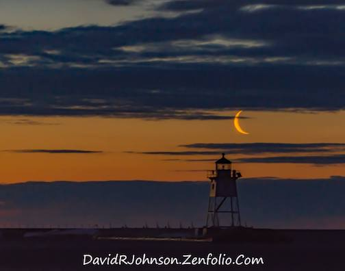 Crescent Moon Morning by David Johnson.