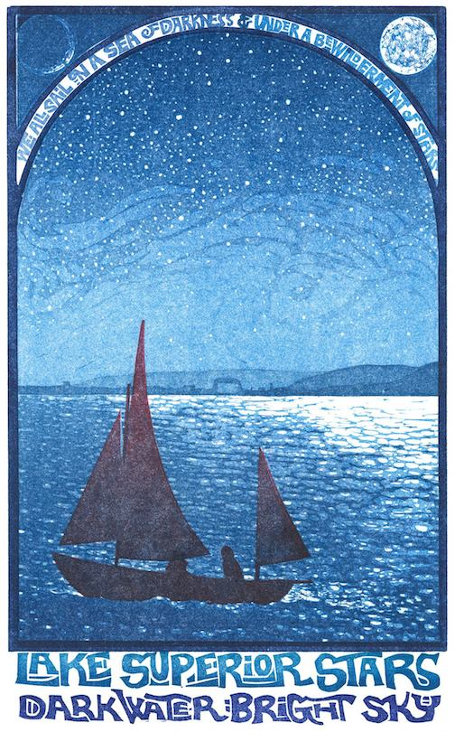 Lake Superior Stars by Rick Allen of Kenspeckle Letter Press.