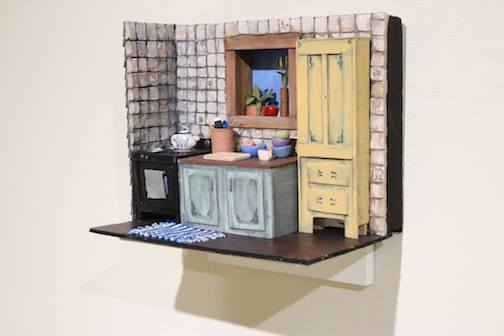 One of the pieces in Hanna Monson's Senior Exhibition at the Tweed. The miniature is part of her work: The House at the End of the  Road.