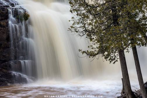 The waterfalls are raging at Gooseberry by Bryan Hansel.