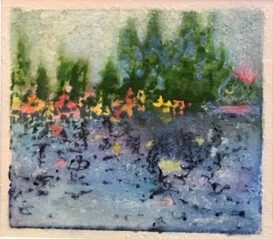 "Charlotte Durie's ""Japanese Lake"" is at Betsy Bowen's Gallery. Durie is being featured at the gallery this month."
