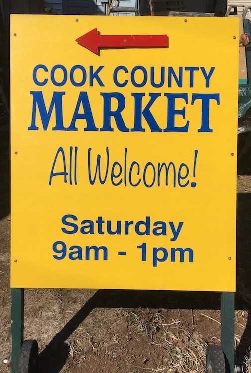 The Cook County Market opens for the season on Saturday in the parking lot of the Senior Center.