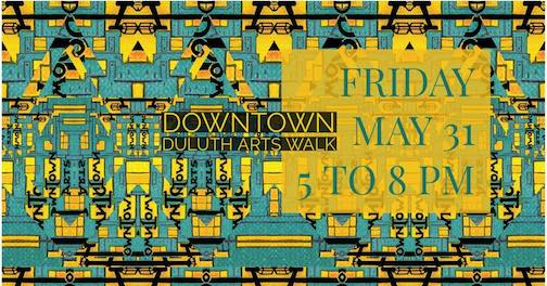 The Downtown Duluth Arts Walk will be this Friday from 5-8 p.m.