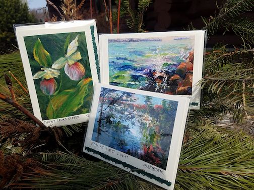 Fine art reproduction cards by Greg Lecker are available at the Johnson Heritage Post.