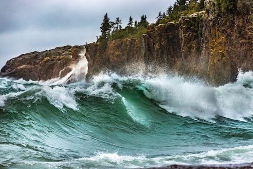 Big lake, big waves by Jeffrey Doty.