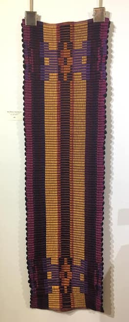 Rep weave table runner by Julie Arthur.