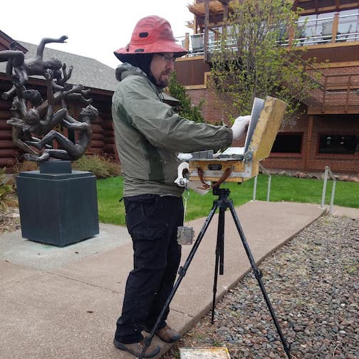 Plein air painter Greg Lecker will give painting demos at the Johnson Heritage Post from 10 a.m. to 4 p.m. Saturday and from 1-4 p.m. Sunday.