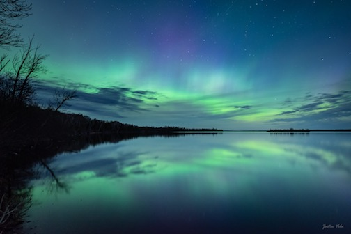 The Northern Lights were flashing and glowing in the night sky earlier this week. Justin Vrba took this beauty.