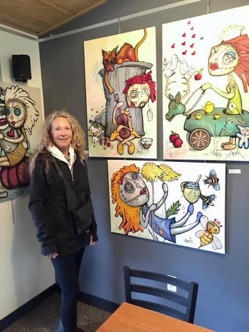 Lauri E. Olson-Hohman opens a new show at the Cedar Coffee House on Friday.