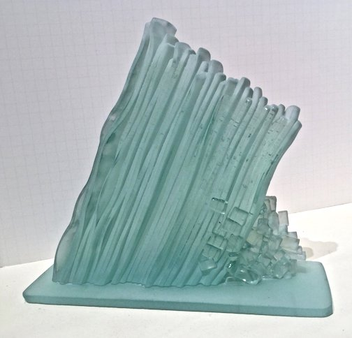One of Mike Tonder's glass sculptures. He will receive the George Morrison Award next week in Grand Rapids.
