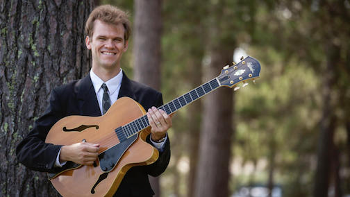 Jazz guitarist Sam Milltich will be in Grand Marais this weekend, giving presentations on mental health and music, as well as playing a concert a Bethlehem Lutheran Church on Saturday night.