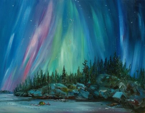 Anna Hess will give painting demonstrations at the Big Lake on Friday and Saturday.