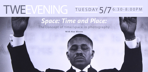 Ken Bloom will give a presentation on time and space in photography at the Tweed Museum of Art