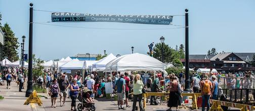 The Grand Marais Arts Festival will be held in downtown Grand Marais July 13-14. Photo by Dennis Chick.