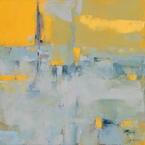Abstraction by Donna Bruni. She will give an Artist Talk on Friday.