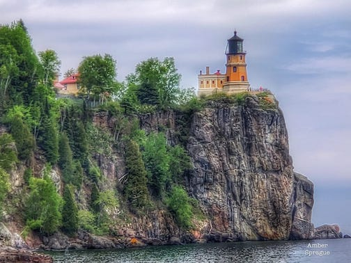 Split Rock Lighthouse by Amber Nustad Sprague.