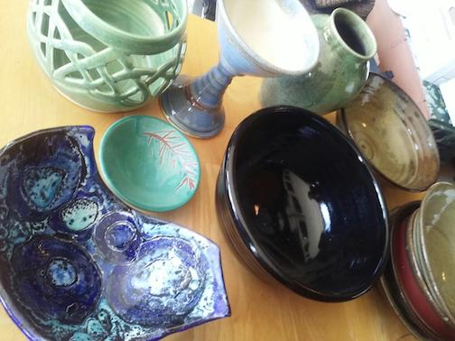 Potter Ann Ward will have a variety of pots for sale at