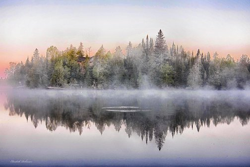 Early morning sunrise on Poplar Lake by Beth Robinson.