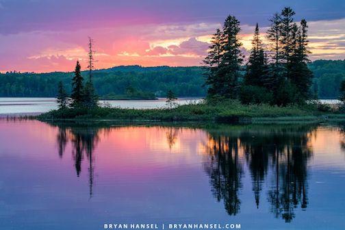 Last night's sunset over Devil Track Lake by Bryan Hansel.