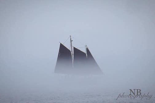 A hazy afternoon in Grand Marais by Norissa Meininger.