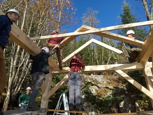 North House will hold timber framing mini-courses on Fridays this summer.