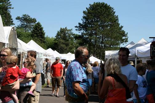 The Park Point Art Fair in Duluth will be held Saturday and Sunday.