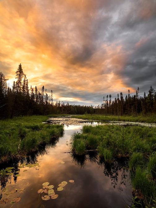 Northwoods Sunrise by Ryan Fischer.