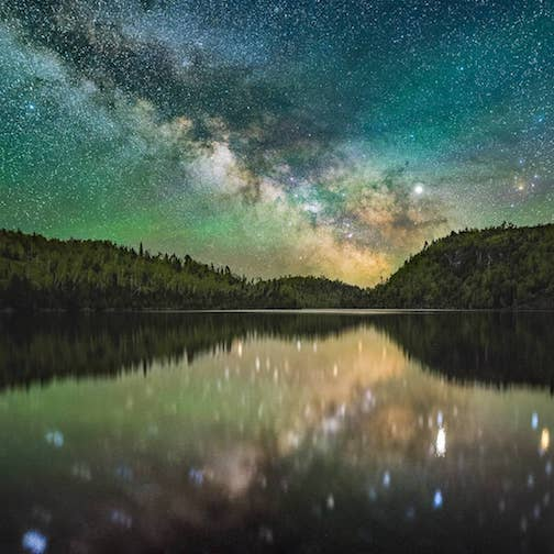 Airglow at Wolf Lake by Sam Brueggeman.