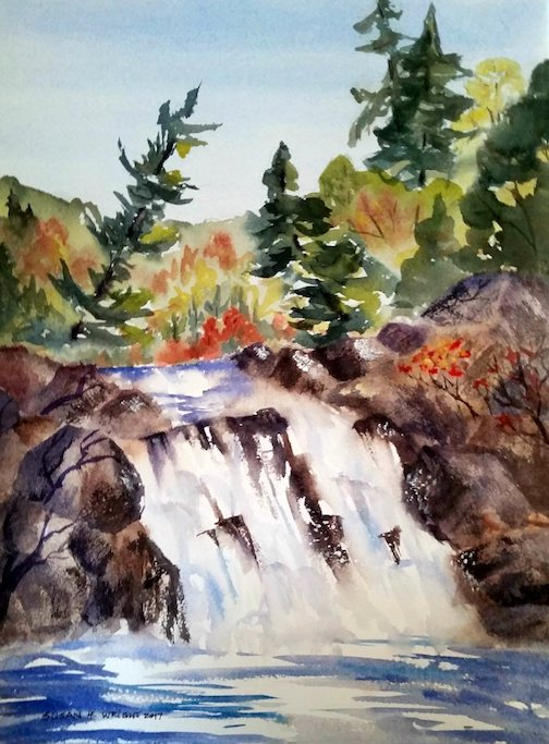 """Cascades"" by Susan Wright."