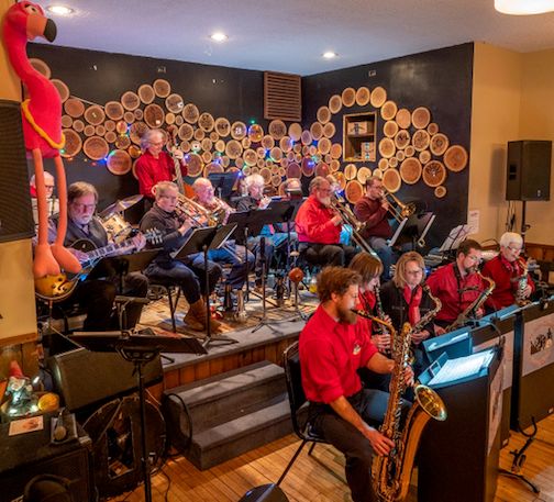 The North Shore Community Swing Band will be at The Wunderbar on Saturday night.