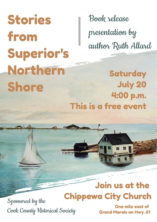 Ruth Allard will give a presentation on her new book on Saturday.