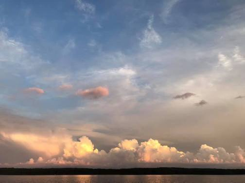 Post-storm clouds over Devil Track Lake by Brianna Schueller.