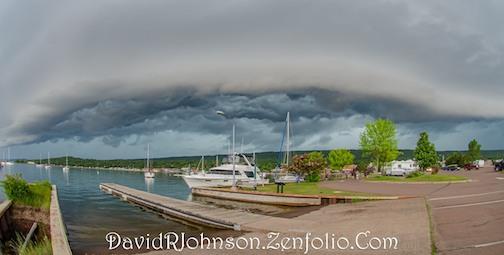 Harbor storm, July 15 by David Johnson.