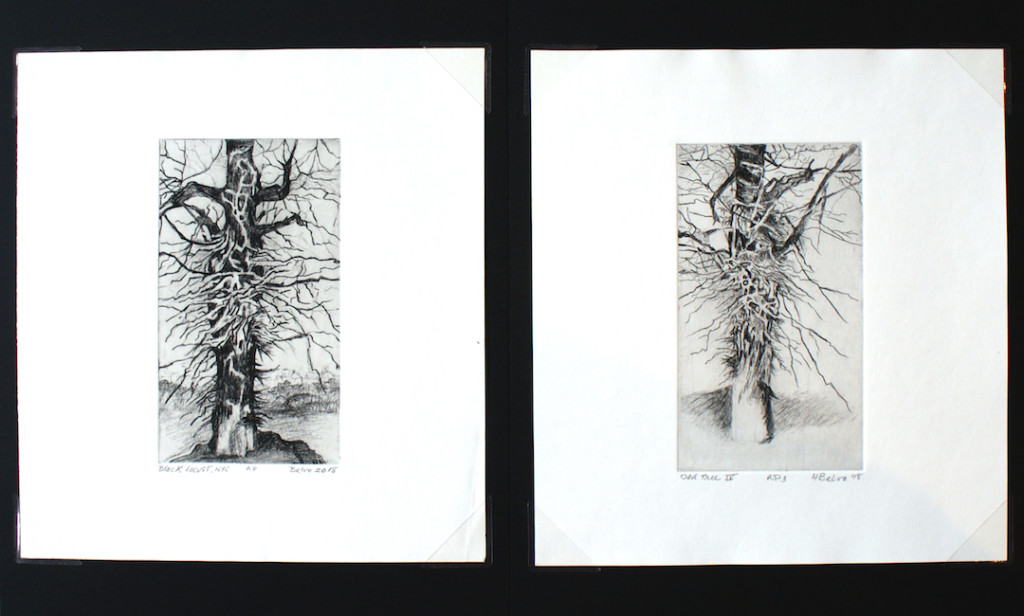 The Art of the Elements Gallery has received new etchings by Hazel Belvo.