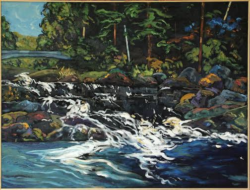 Painting by Douglas Ross, one of the works featured in an upcoming show at the Johnson Heritage Post.
