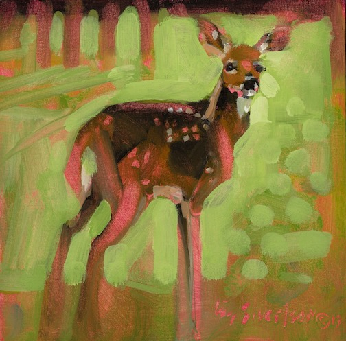 """""""Spotified"""" by Liz Sivertson is at Sivertson Gallery in Grand Marais."""