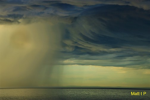 Storm on Lake Superior by Matthew Pastick.